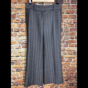 "LOFT ""Julie"" Black & Gray Silver Dress Pants Sz 2"